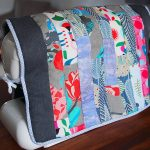 Quilted sewing machine cover with Heal's fabric
