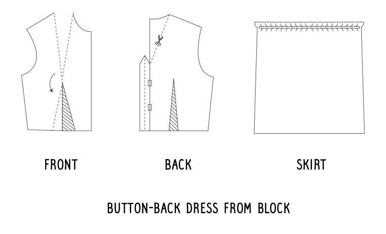Button-back dress