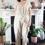 Creamy True Bias Yari jumpsuit for spring